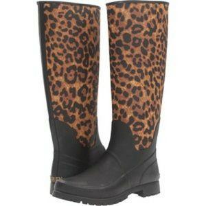 Ralph Lauren nwob cheetah print rain boot size 6